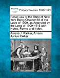 img - for Penal Law of the State of New York Being Chapter 88 of the Laws of 1909, as Amended by the Laws of 1909-1916 with Notes, Forms and Index. book / textbook / text book