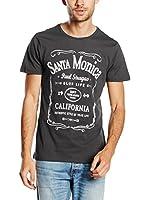 PAUL STRAGAS Camiseta Manga Corta (Gris Oscuro)