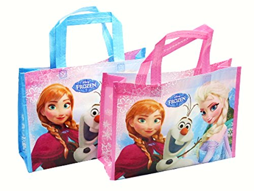 "Disney Frozen Reusable Lesson Bag For Kids. H 9.6"" x L 13""x W 4"". Set Of Two. - 1"