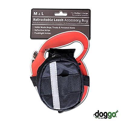 Doggo Retractable Leash Accessory Bag, One Size, Black