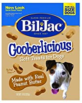 Bil-Jac Gooberlicious Treats - 10 oz, peanut butter (Pack of 4)
