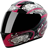 Shox Axxis Lily Motorcycle Helmet S Black/Pink