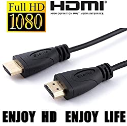 Storite 1.5 Metre Super Slim High Speed HDMI Male to HDMI Male Cable with Ethernet Full HD 1080p - Black