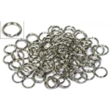 100 Nickel Plated Split Ring Chain Parts Findings 6mm