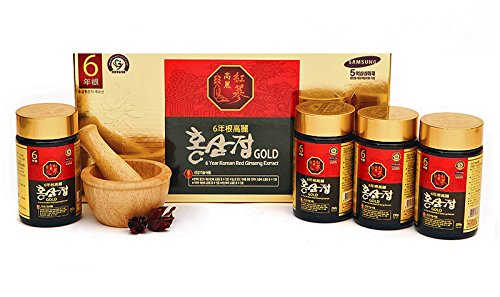 Korean 6Years Root Red Ginseng Gold Extract_250G(8.8Oz) X 4Ea