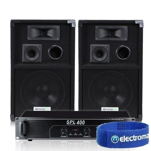 Pair of Ekho VX8 Speakers & Skytec Power Amplifier Black Friday & Cyber Monday 2014
