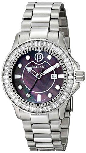Ballast Women's BL-5101-11 Vanguard Analog Display Swiss Quartz Silver Watch