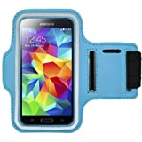 Running Jogging Sports GYM Armband Case Holder For Samsung Galaxy S4 & Galaxy S3 & Galaxy S5 (Sky Blue)