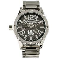 [ブルッキアーナ ブラックレーベル]BROOKIANA BLACKLABEL ハイポリッシュ加工 クウォーツ腕時計 スケルトンギミック BKL1001-15 メンズ