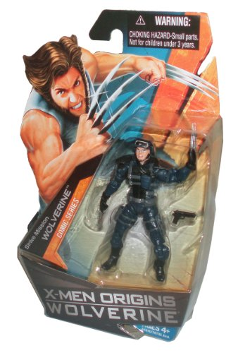 Buy Low Price Hasbro X-Men Origins Wolverine Comic Series 4 Inch Tall Action Figure – Strike Mission WOLVERINE with Pistol (B003IZET74)