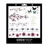 Kitsch Flower Metallic Tattoos, Silver, 0.019 Ounce