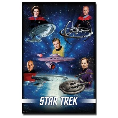 (22x34) Star Trek (Captains) TV Poster Print