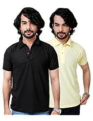 Elligator Stylish Black & Yellow Polo T-Shirt Combo