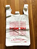 """TashiBox Thank You Bags Reusable Grocery Bags - Measures 11.5"""" X 6.25"""" X 21"""", 15mic, 0.6 Mil - 308 Count"""