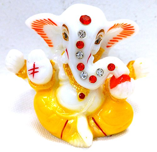 Celebration Gift Ganesh Statue Size 1.8 Inch No. 97 Multi Color Car Idol