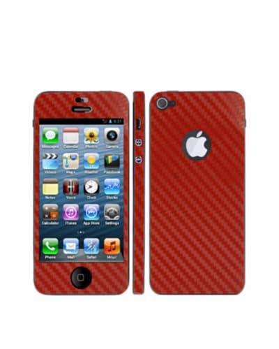 Unotec Vinilo Decorativo Fiber Skin iPhone4S Rojo