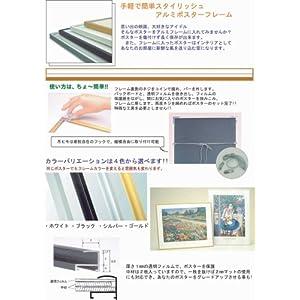 【クリックでお店のこの商品のページへ】APJ フィットフレーム ポスターサイズ(500X700mm) ゴールド