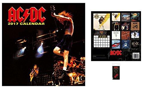 Set: AC/DC, Calendario Ufficiale 2017 (30x30 cm) e 1x Portachiave (6x4 cm)