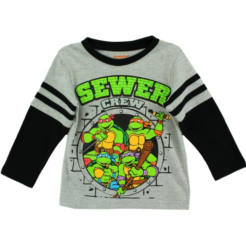 Nickelodeon Little Boys' Ninja Turtles 1 Piece Pullover, Gray, 2T