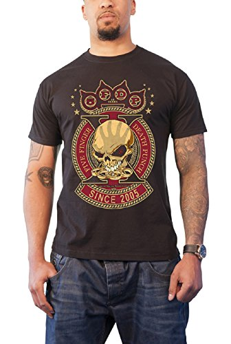 Five Finger Death Punch - Top - Maniche corte - Uomo nero Small