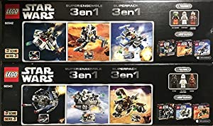 Lego Star Wars Super 6 Pack Microfighter Chewbacca Gunship / X-Wing Fighter / Ghost Ship / Snowspeeder / Tie Fighter / AT-At Series 3 - 66542 + 66543