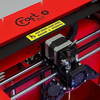 Traffic Red colored CraftBot PLUS 3D printer.