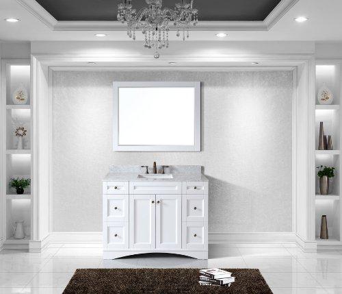 Virtu Usa Es-32048-Wmsq-Awh Elise 48-Inch Single Bathroom Vanity Set, White