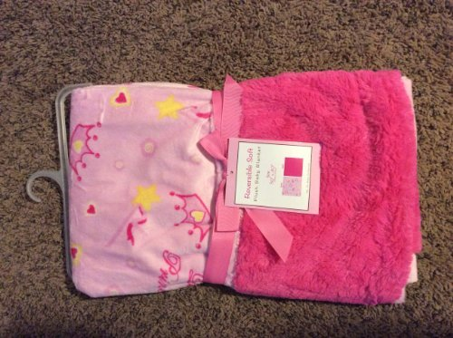 "Reversible Soft ""Little Princess Wand"" Plush Baby Blanket - 1"