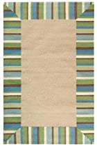 "Hot Sale Panama Area Outdoor Area Rug Ii, 7'6""x9'6"", TURQUOISE"