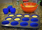 (48-pack) Reusable Silicone Baking Cups / Cupcake Liners by Happy Gourmet Kitchenware