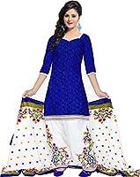 Soru Fashion Women's Cotton Dress Material (RSA-1214_AN_Blue)