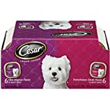 Cesar Canine Cuisine Variety Pack (Filet Mignon, Porterhouse Steak) for Small Dogs, 3.5-Ounce Trays (Pack of 24)