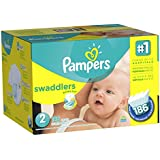 Pampers Swaddlers Diapers Size-2 Economy Pack Plus, 186-Count