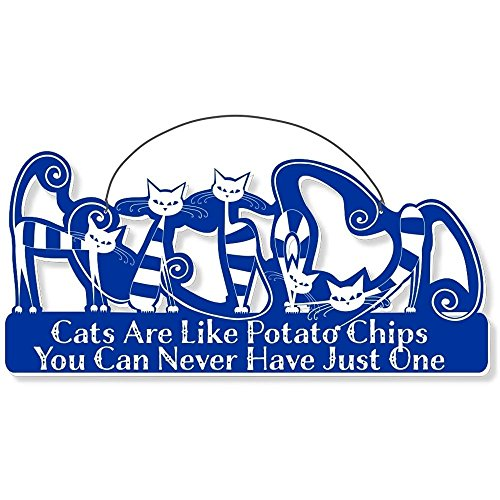 Cool Cats Cat-Gang Shaped Laser-Etched 3-In-1 Plaques Ver2 Like Potato Chips Bue front-440660