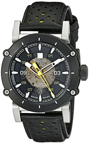zodiac-mens-zo8571-zmx-2-stainless-steel-watch-with-black-and-yellow-genuine-leather-band