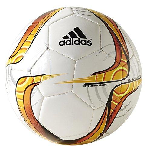 Adidas Uefa Capitano Pallone Da Calcio Europa League 2015/2016, Colore White-Solar Gold-Solar Red - Taglia 5