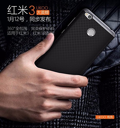 reputable site 1e1be e1023 iPaky Hybrid Ultra Thin Shockproof Back + Bumper Case Cover for Xiaomi  Redmi 3S Prime - Grey