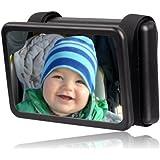 Wicked Chili Baby Spiegel Easy View - Rückspiegel für Babyschalen (140 x 88 mm) schwarz