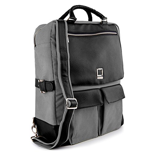 Click to buy Lencca Alpaque Crossover Backpack Carrying Bag Case for Fujitsu LifeBook 13.3 to 15.6-inch Laptops - Black & Grey - From only $86