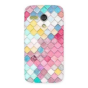 Cute Rock Pattern Multicolor Back Case Cover for Moto G