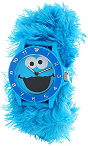 Sesame Street Kids' SW4930CM Cookie Monster Blue Link Slap Watch