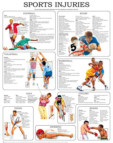 Sport injuries I - Quick Reference Chart: Full illustrated (Skin Diagram compare prices)