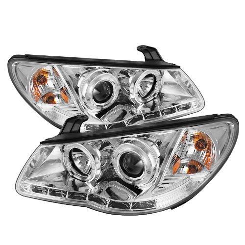 Spyder Auto (Pro-Yd-Hyelan07-Drl-C) Hyundai Elantra Chrome Halo Projector Headlight With Led Daytime Running Light
