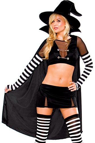 3Wishes Women's Black Widow Witch Costume Sexy Witch Costumes For Women