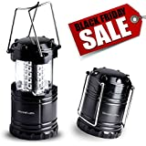 **CRAZY BLACK FRIDAY SALE** [Ultra Bright] LED Lantern - Best Seller - Camping Lantern - Collapses - Suitable for: Hiking, Camping, Emergencies, Hurricanes, Outages - Super Bright - Lightweight - Water Resistant - Black - Divine LEDs
