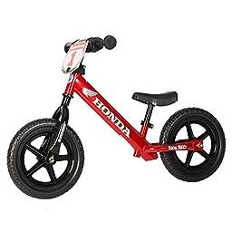 Strider - 12 Sport Balance Bike, Ages 18 Months to 5 Years, Custom Honda Red