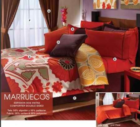 Limited edition marruecos complete bedding collection - Complete bedroom sets with curtains ...