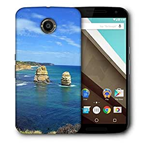 Snoogg Abstract Ocean View Printed Protective Phone Back Case Cover For LG Google Nexus 6