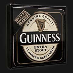 Guinness Coasters - Label Cork Back - 6PK