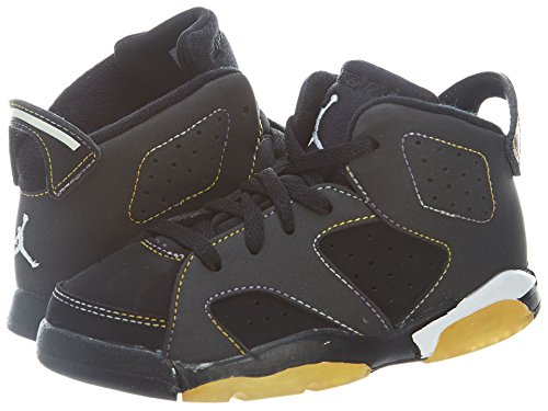 Toddlers Nike Air Jordan 6 Retro (Td) (384667 002) (9 M Us Toddler, Blk / Vrsty Prpl-White-Vrsty Mz) front-1061400